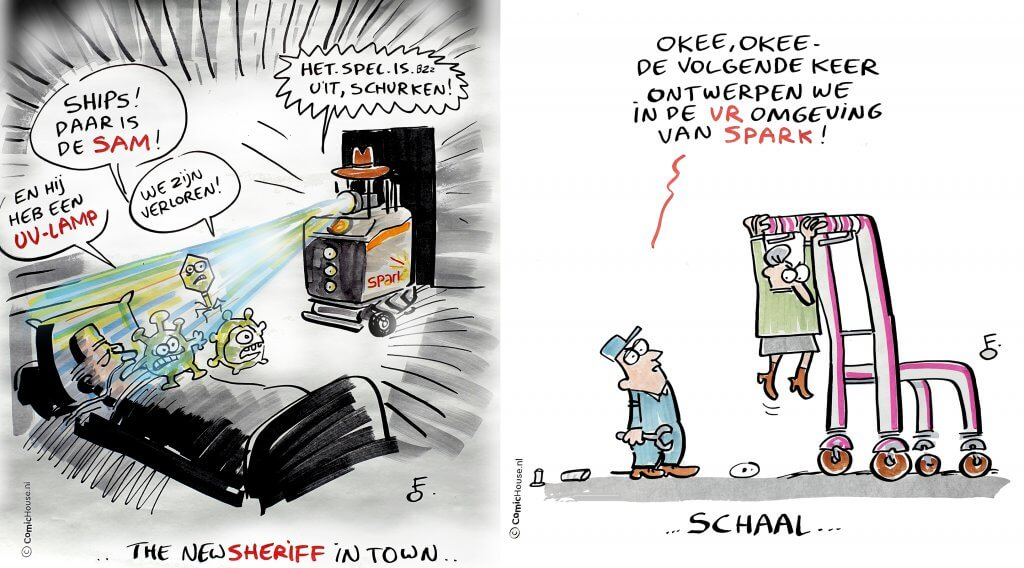 Cartoon strips LSH010 ontbijt 24 september