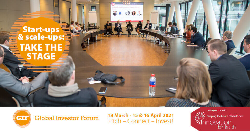 Pitching opportunities for young companies at Global Investor Forum and Innovation for Health – 18 March & 15-16 April 2021